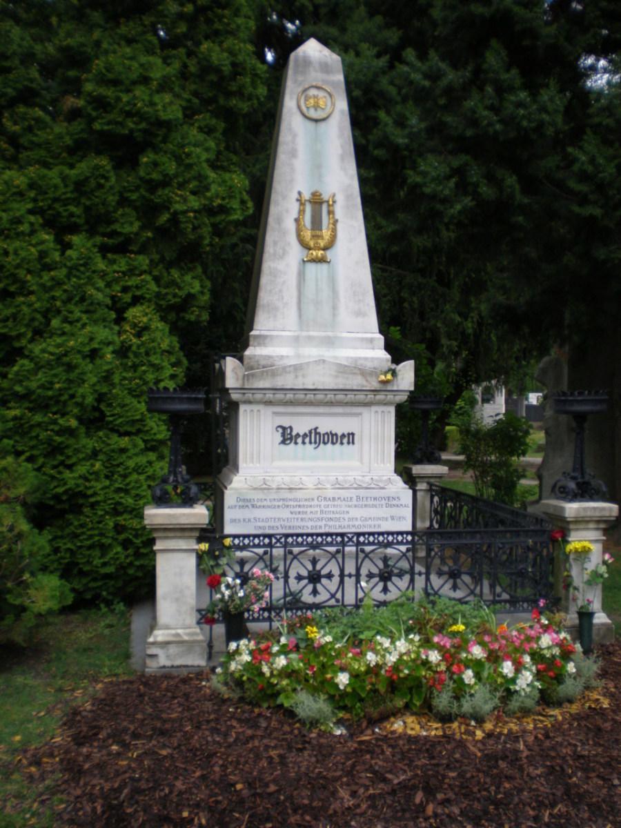 Beethoven's grave at Zentralfriedhof