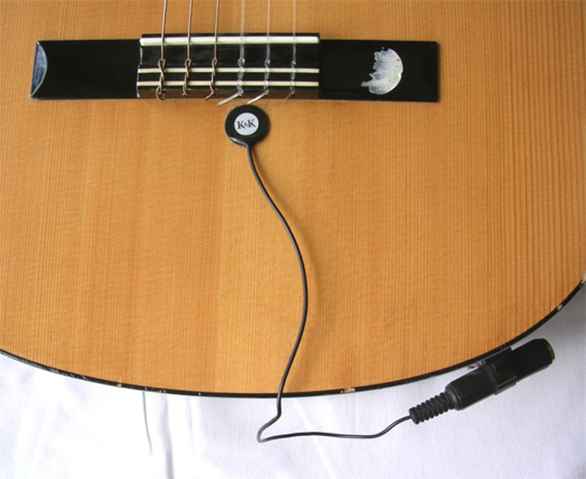 A  piezoelectric guitar pickup