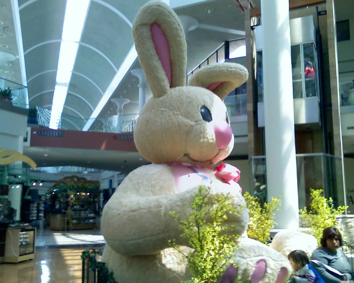 Easter Bunny in Tucson Mall, Tucson, Arizona