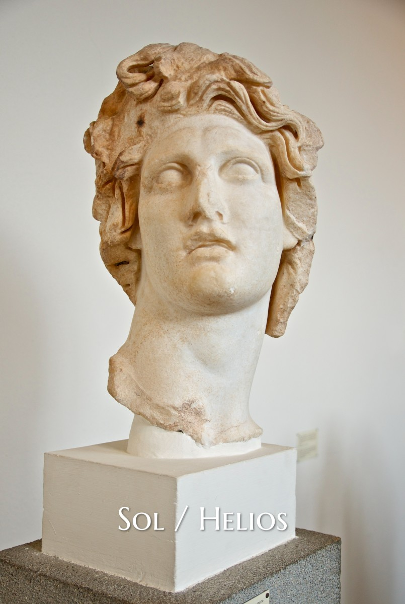 Sol was the Roman god that personified the Sun. Helios was the Greek version. The god was considered a minor deity overall, though a religion that rivaled Christianity did rise in relation to Sol worship.