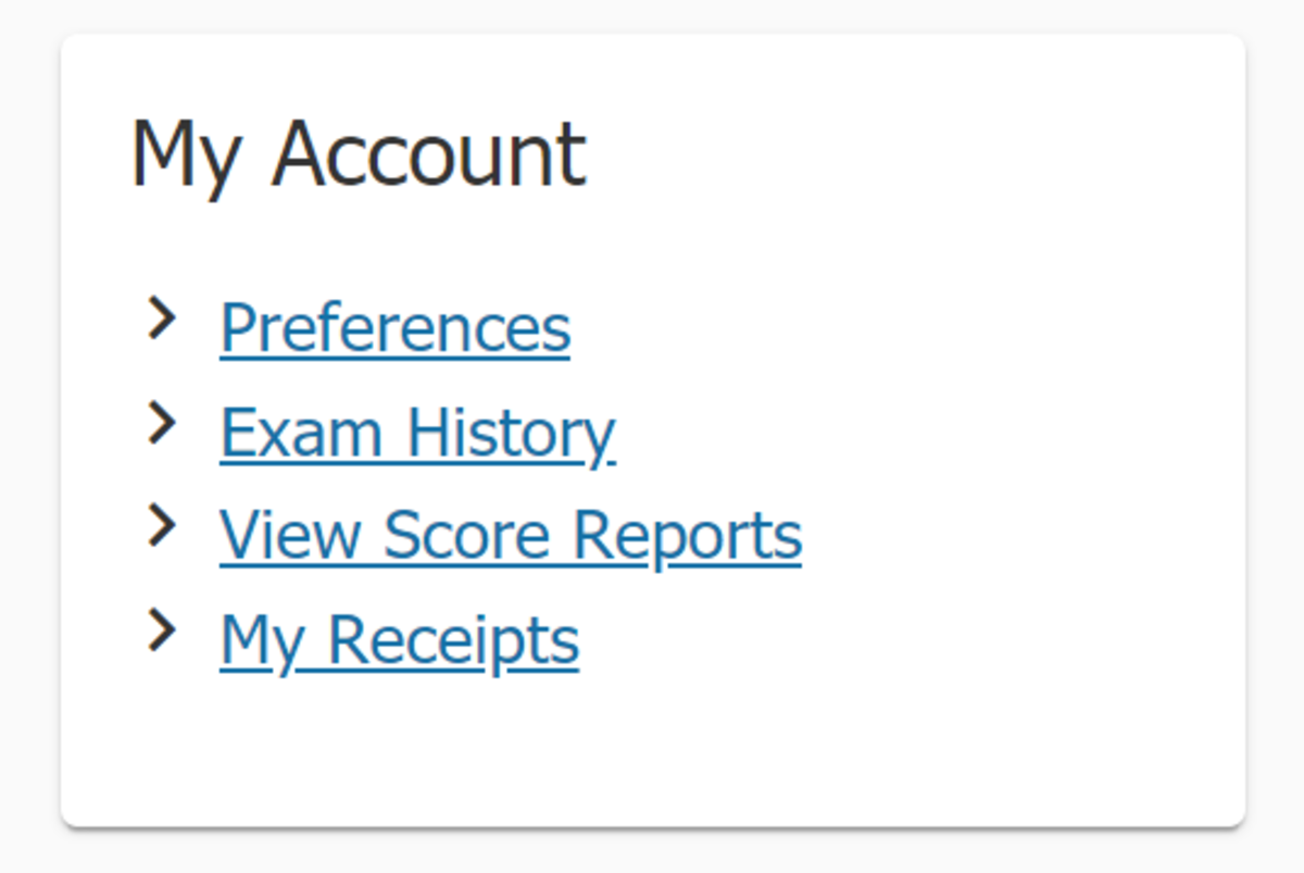 Click View Score Reports under My Account to find your Azure exam score report