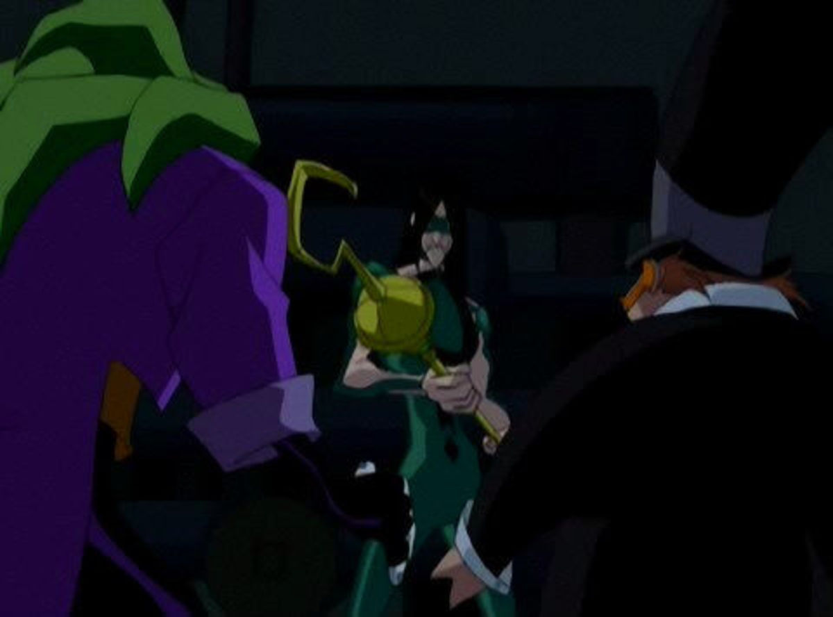 Joker, Riddler, and Penguin have a competition to unmask and defeat Batman.