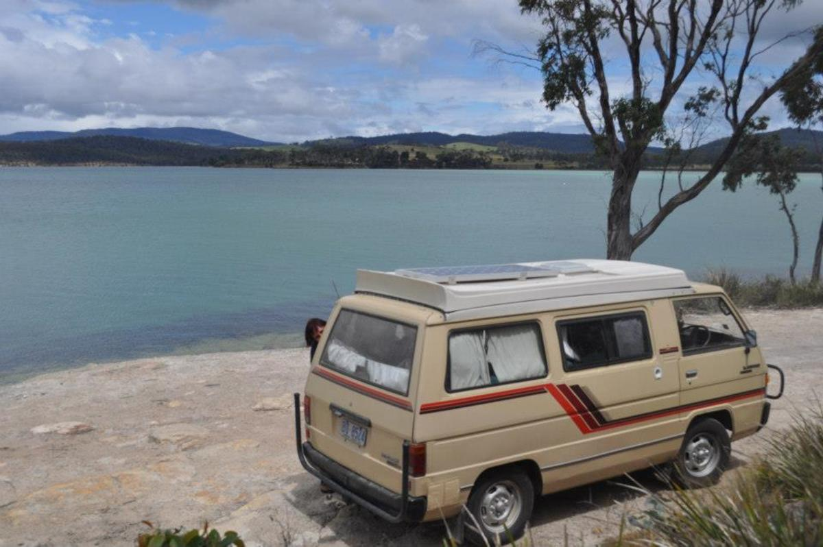 Camper at  Lime Bay, Tasmania