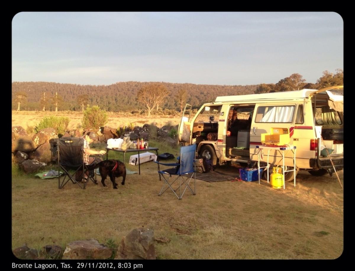Tasmania Australia, Free Camping sites in camper
