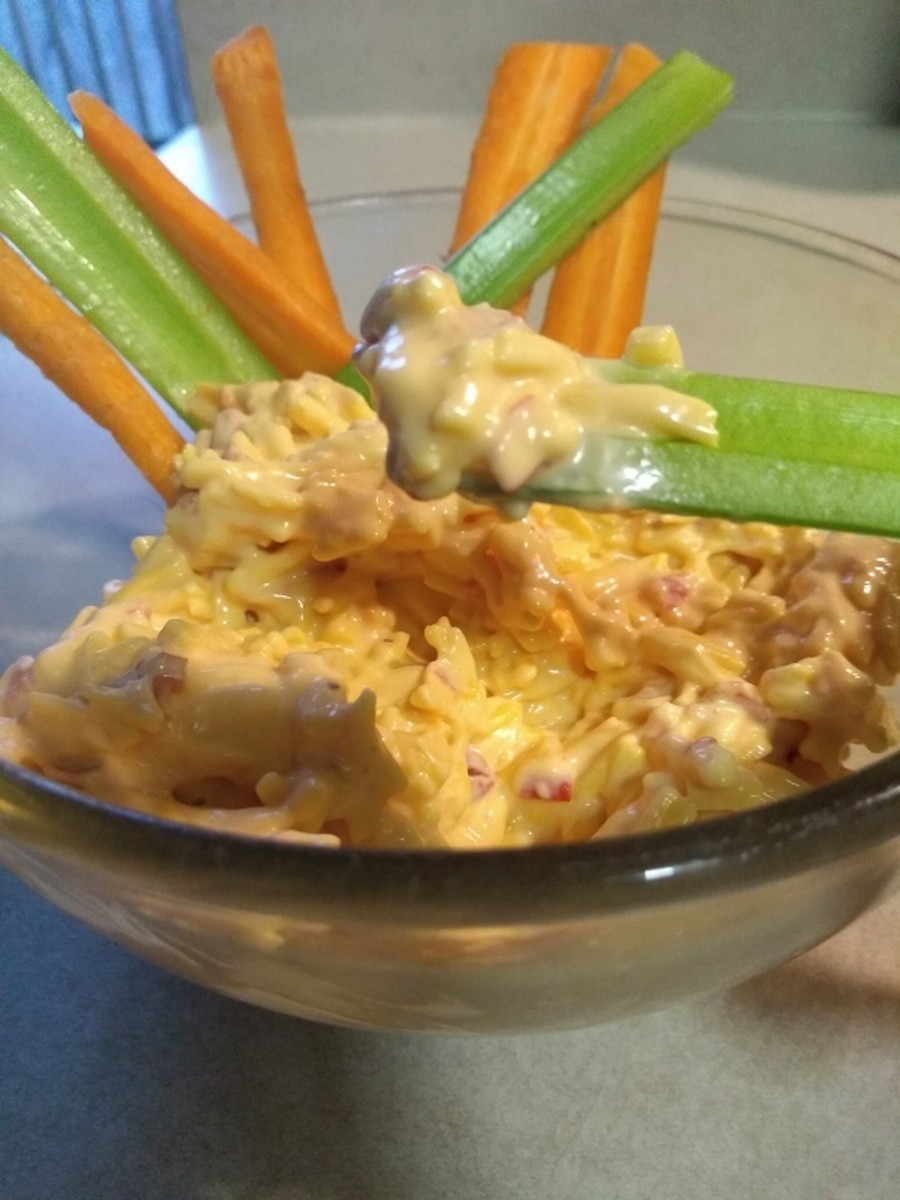 Pimento cheese spread makes a delicious dip for veggies