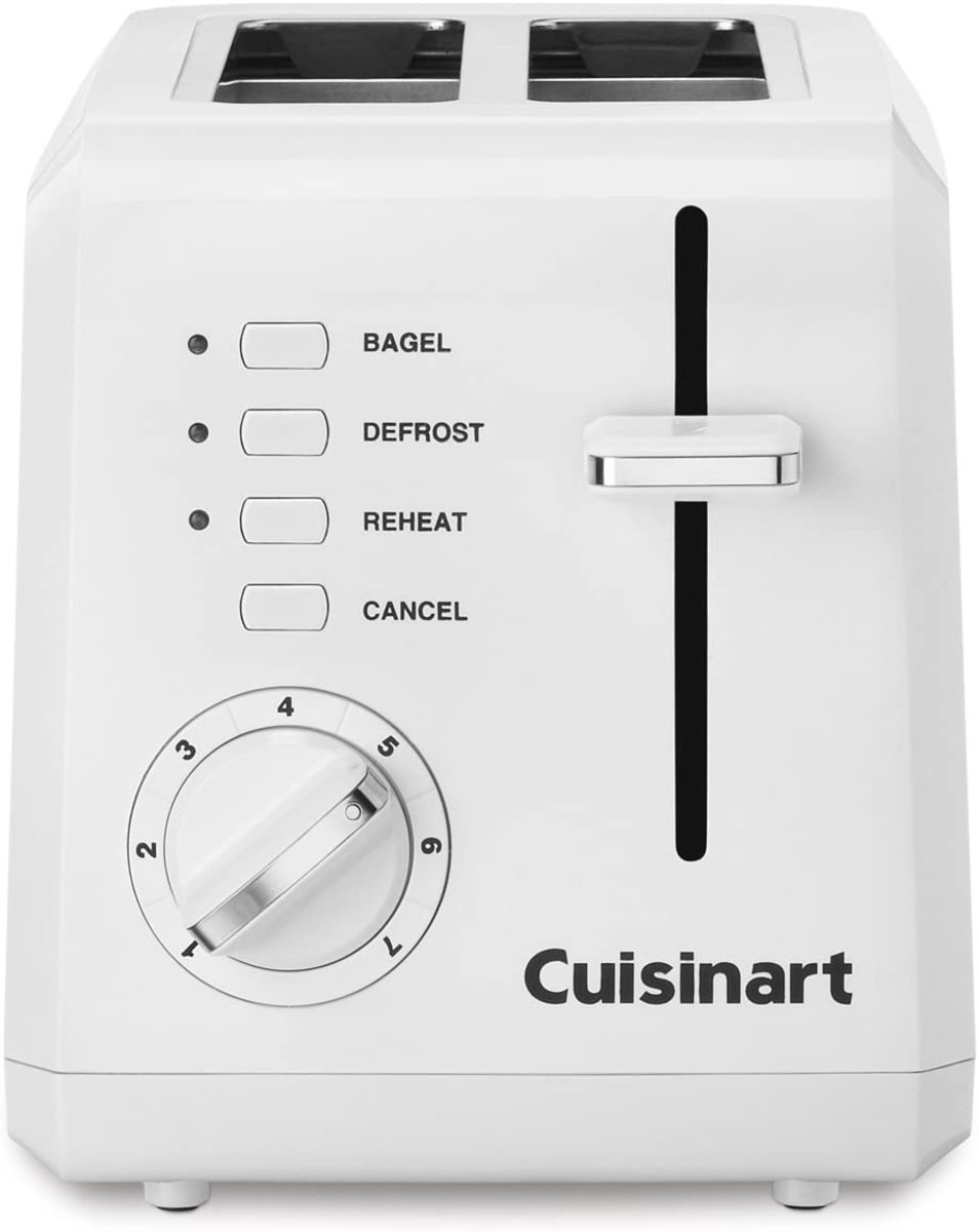 The Cuisinart CPT-122 2-Slice Compact Plastic Toaster