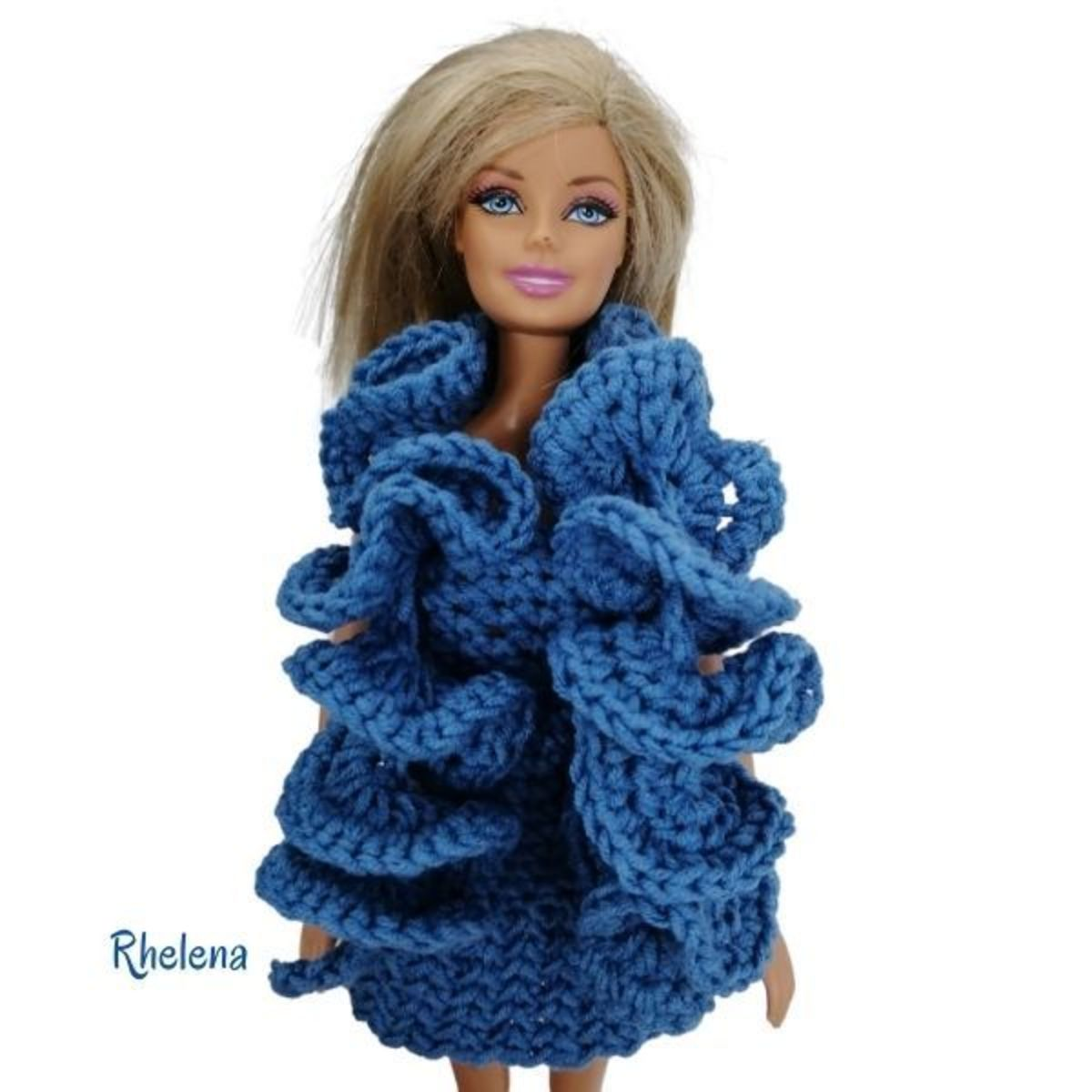 Ruffled Barbie Scarf