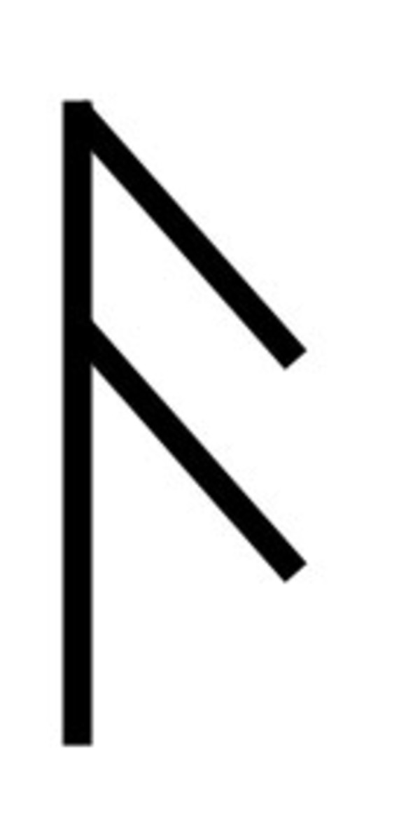 "Futhark rune that means '""the passing of breath' and is used to inspire communication."