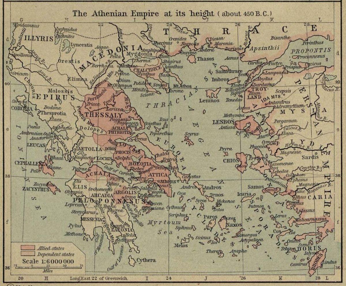 The Aegean Sea area at the time of Aristotle.