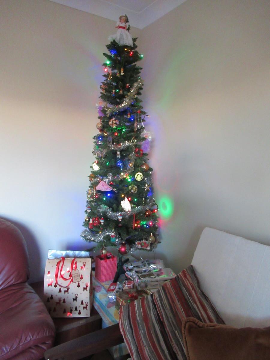 Twinkling Fairy Lights on the Christmas Tree