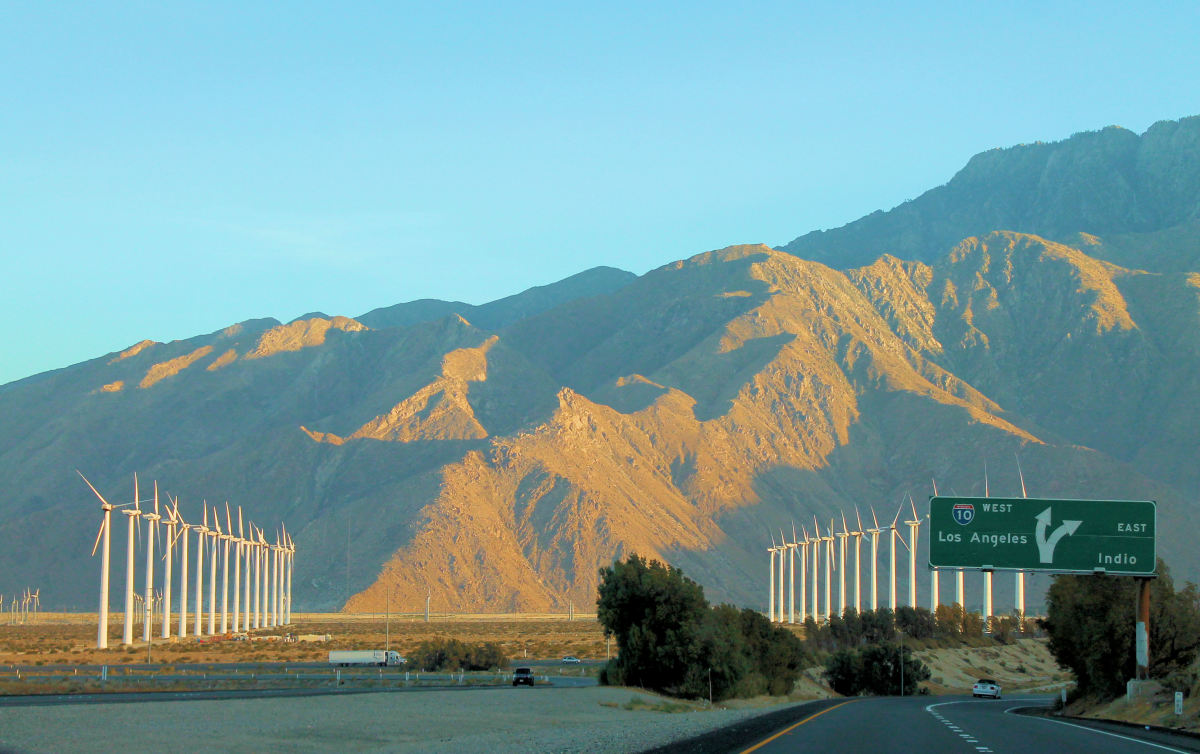 On the road to Joshua Tree, CA.