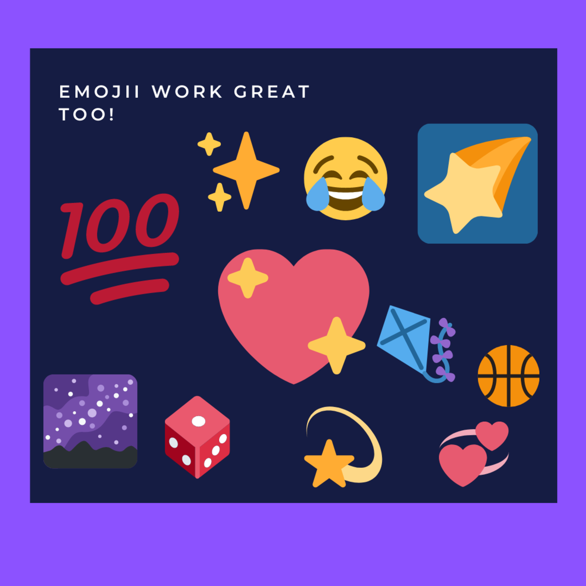 Some examples of cool emoji you could include with your server's name!