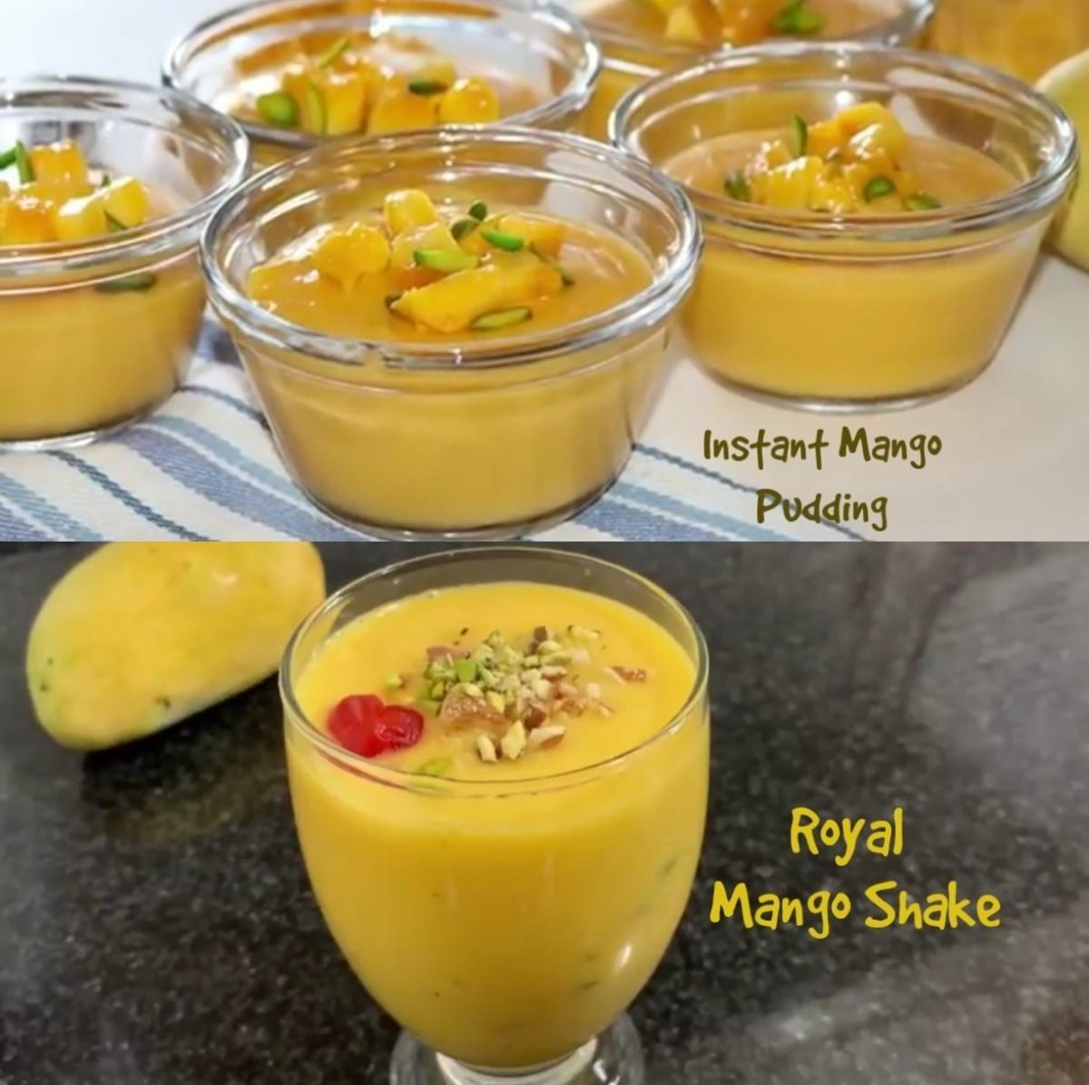 Instant Mango Pudding and Royal Mango Shake From the Summer Season