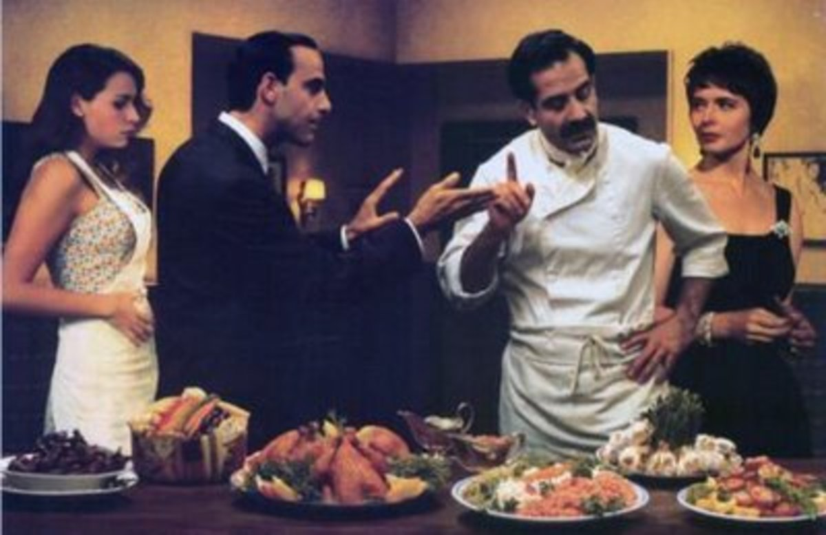"Photo from the fun foodie movie ""Big Night""."