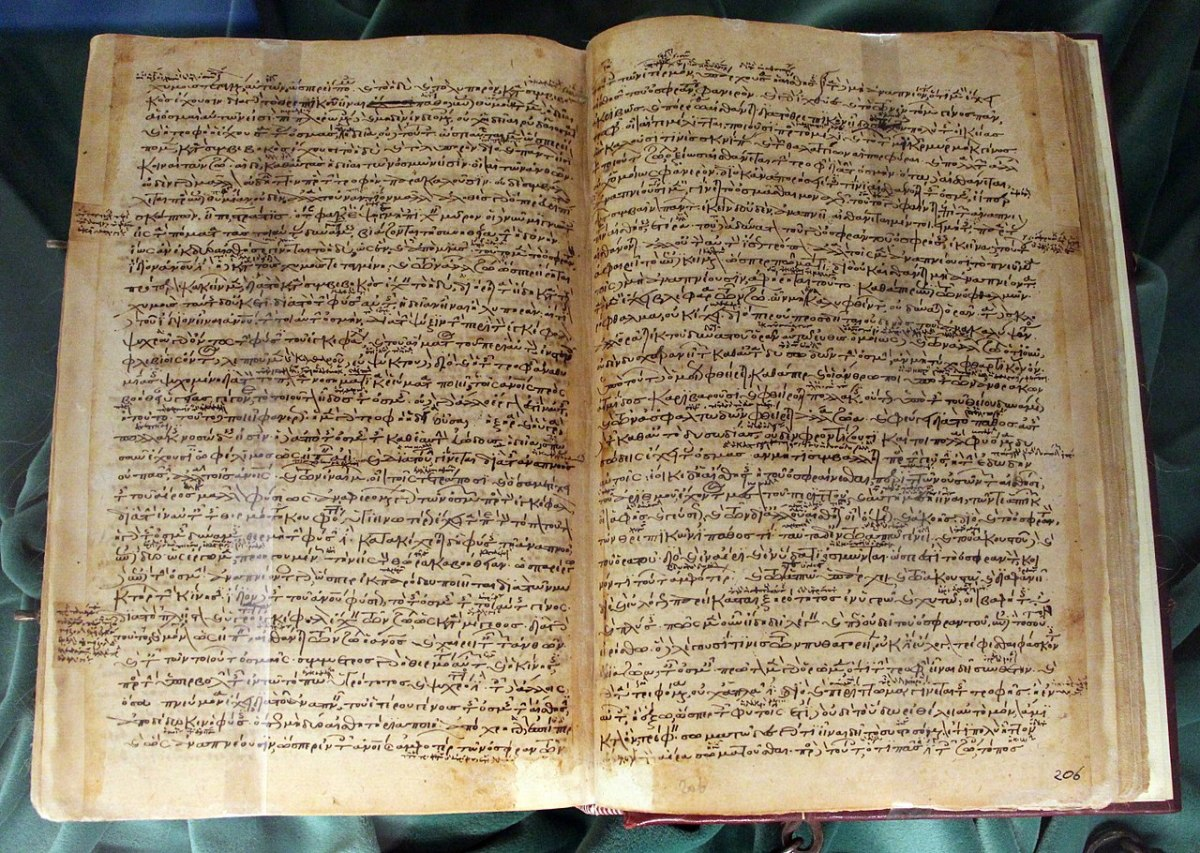 Historia animalium (History of Animals), one of Aristotle's books on biology. 12th century manuscript.