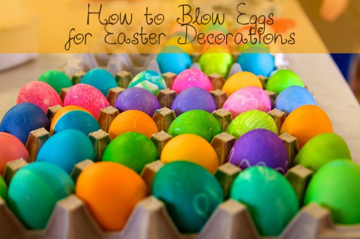 How to blow Easter Eggs for decorating.