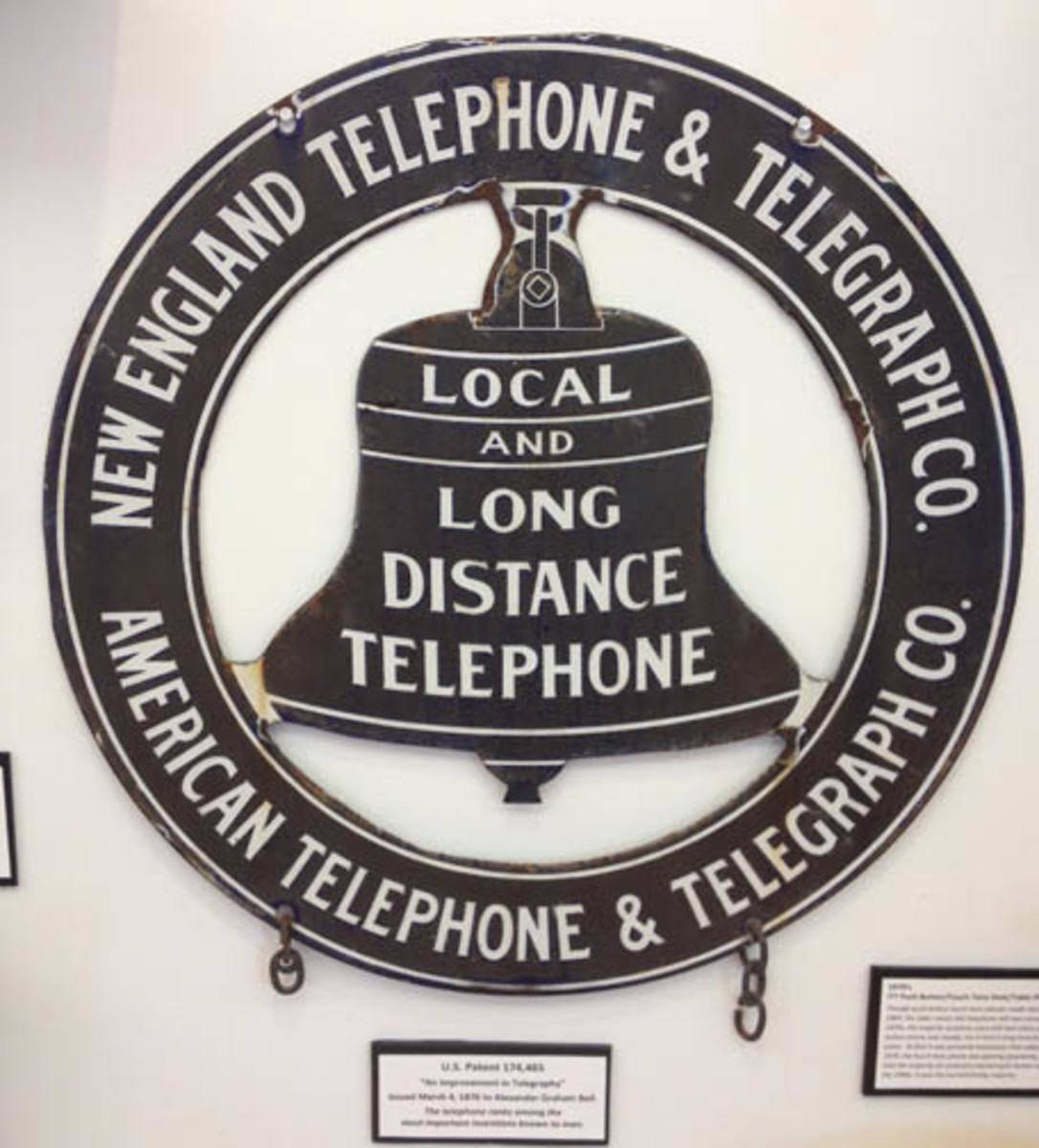 Individuals interested in business and marketing would appreciate the efforts taken by the telephone industry. The various logos were used everywhere and on everything, from signs to dinnerware.
