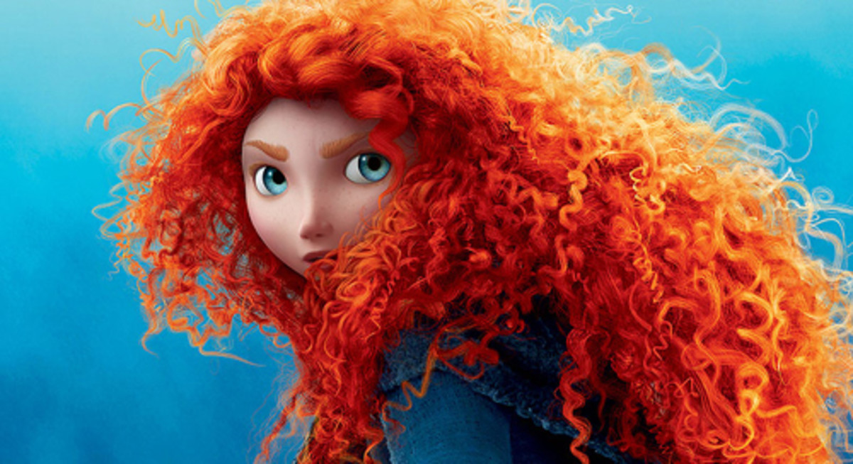 Princess Merida and her magnificent hair.