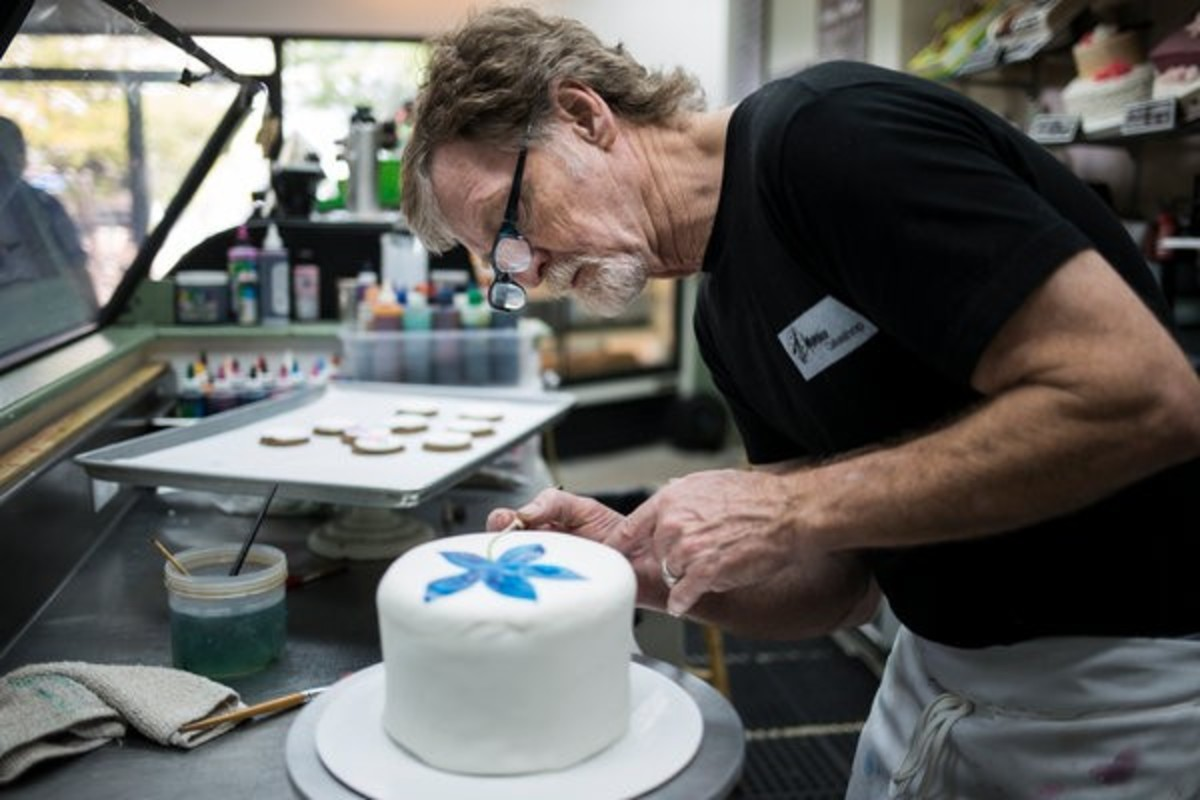 Jack Phillips at work in his bakery