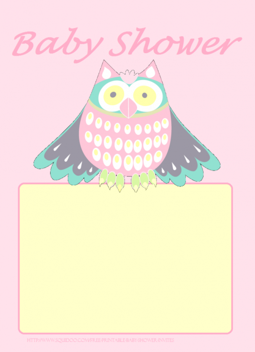 Cute Owl for a baby girl. Right click and save.