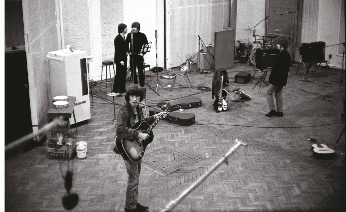 The band during the Revolver sessions.