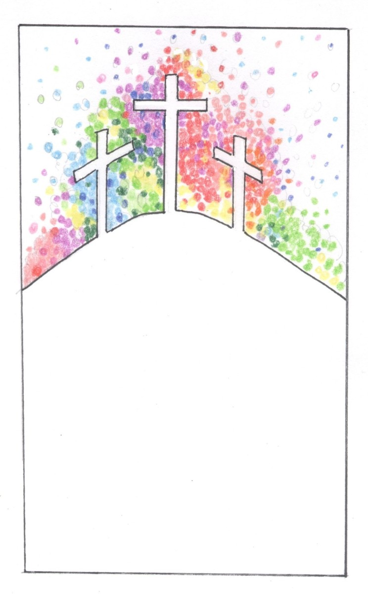 This was the design drawing we used for our Easter panels.