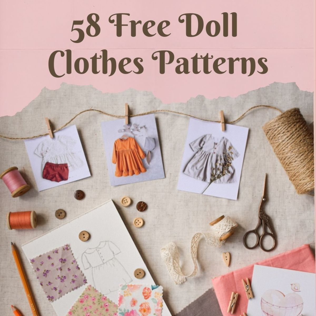 58 doll clothes patterns from around the web