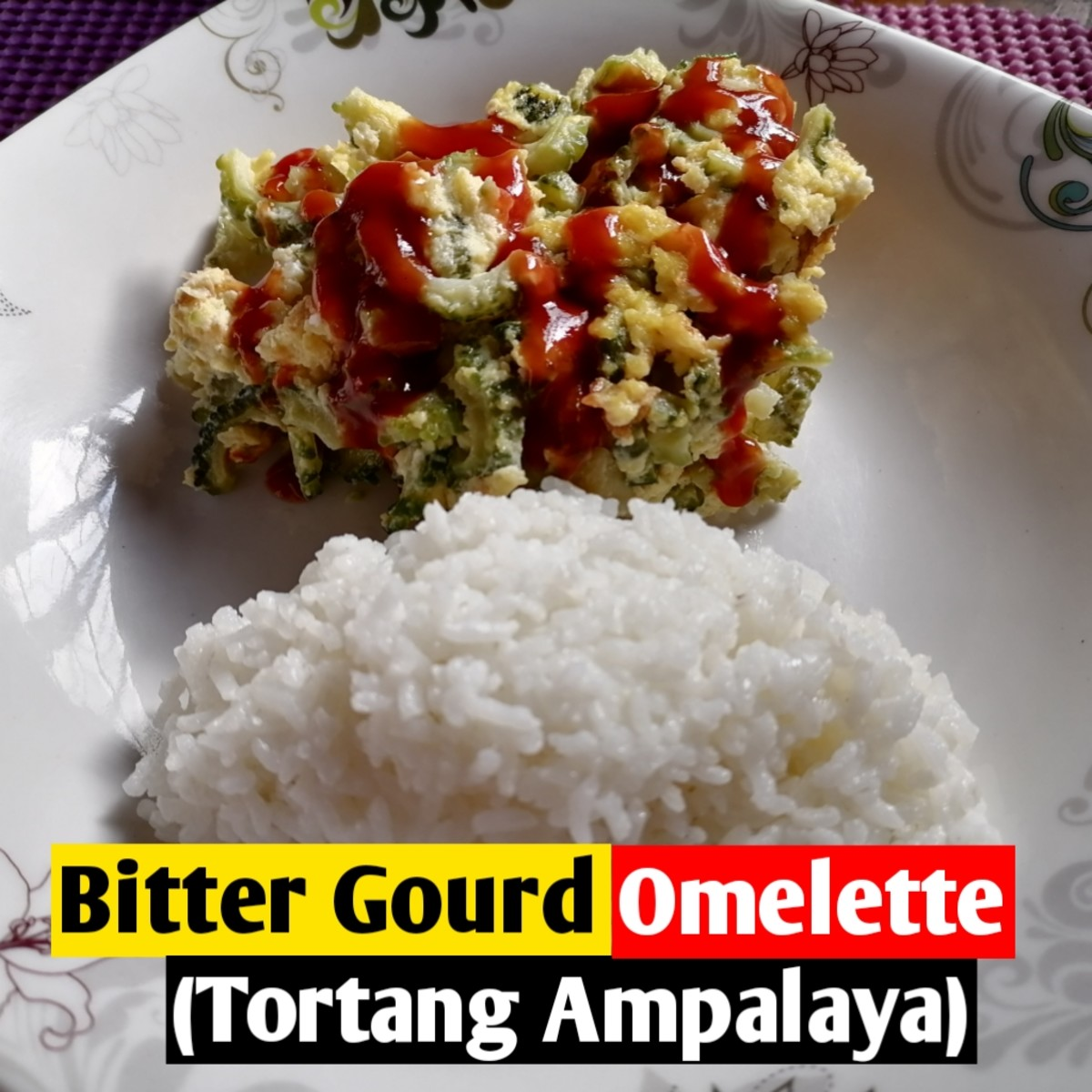 Learn how to prepare bitter gourd omelette
