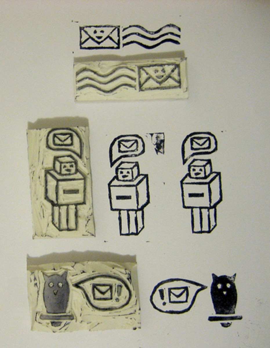 How to make your own rubber stamps homemade ideas for for Custom craft rubber stamps