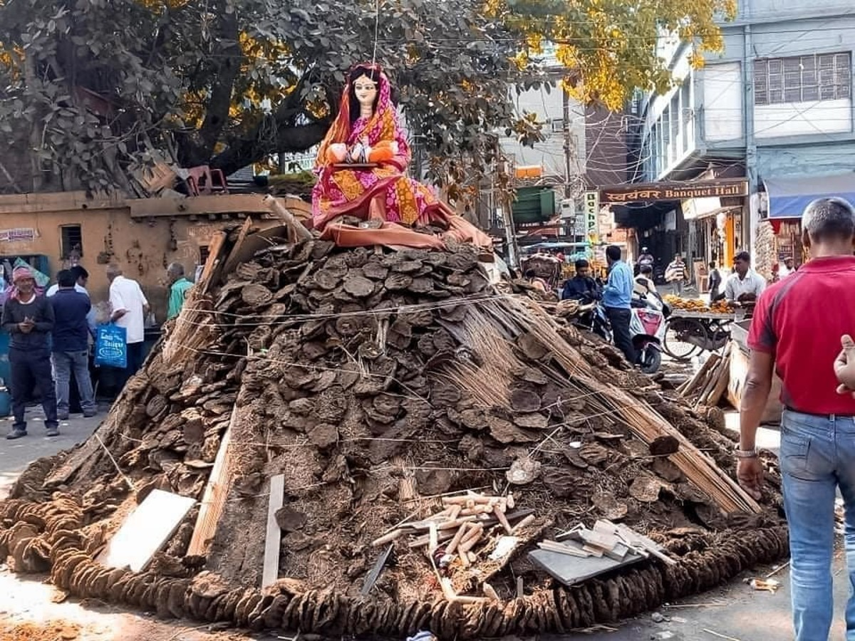A Typical Holi Pyre ...
