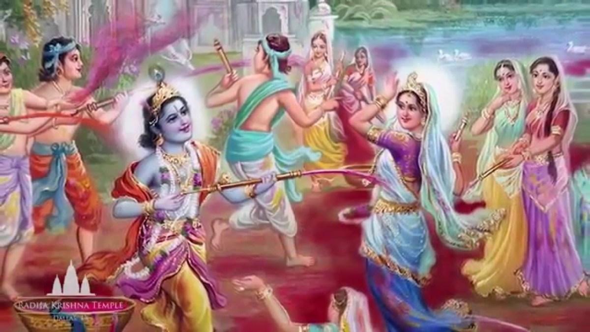 Picture of Holi Celebrations by Raadhaa-Krishna and Gopa-Gopis in Vrajbhoomi ....