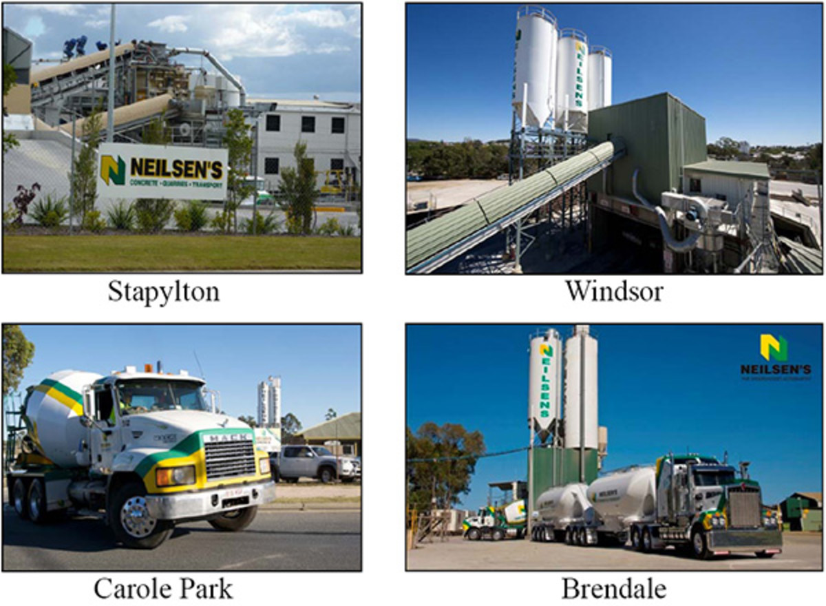 Today there are several concrete plants in large cities this plans here are in Brisbane Australia. They supply the growing  city with the concrete it requires, is is a lot easier than in the old times.