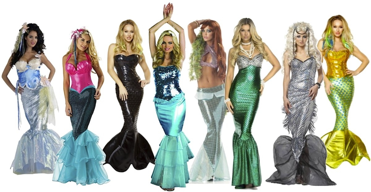 Just a few of the many mermaid costumes for women to choose from at