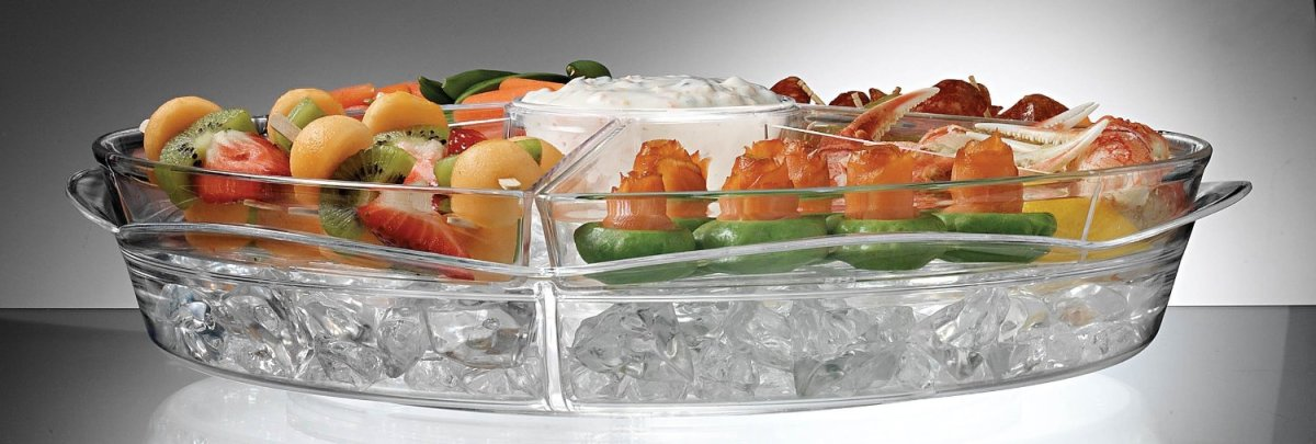 Appetizers on Ice Serving Tray