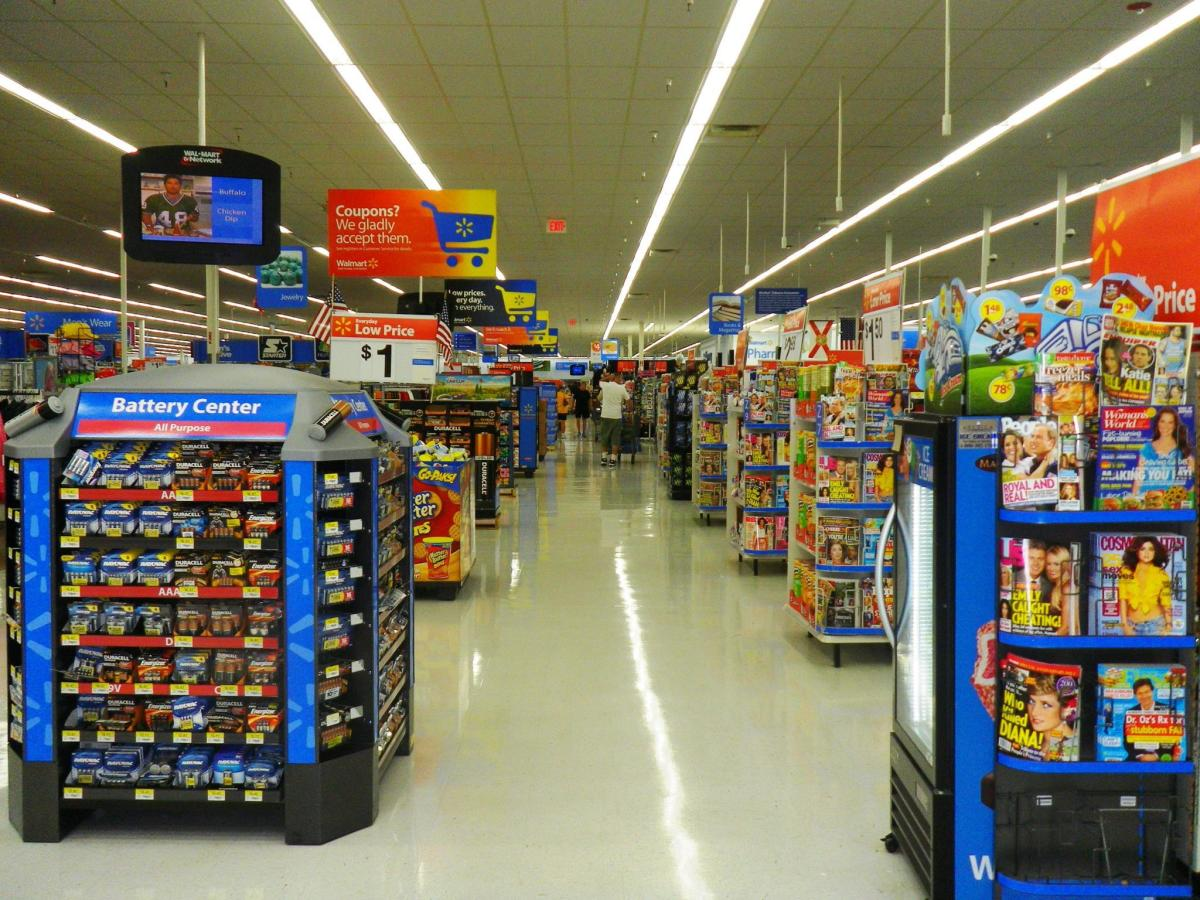 The way Walmart's stores are laid out is no accident.