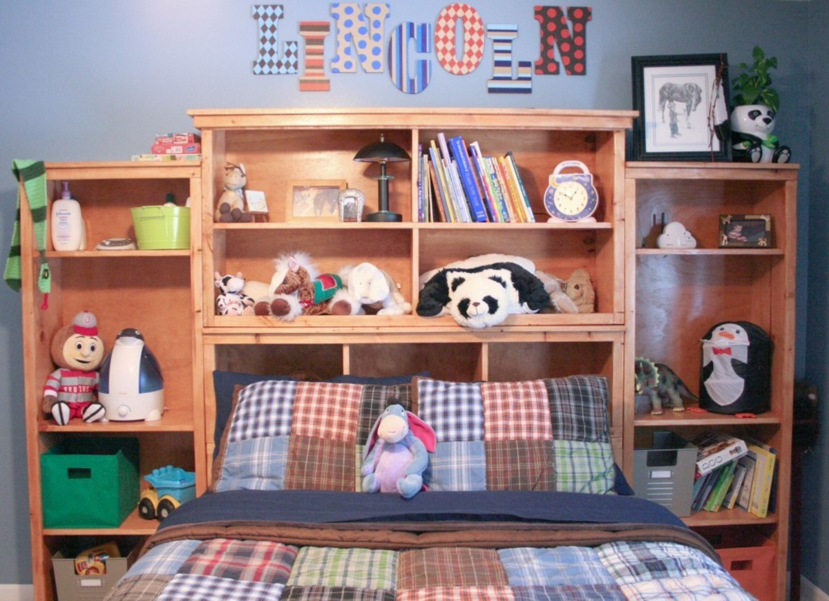 Cubby hutch has the plans for the children storage headboard.