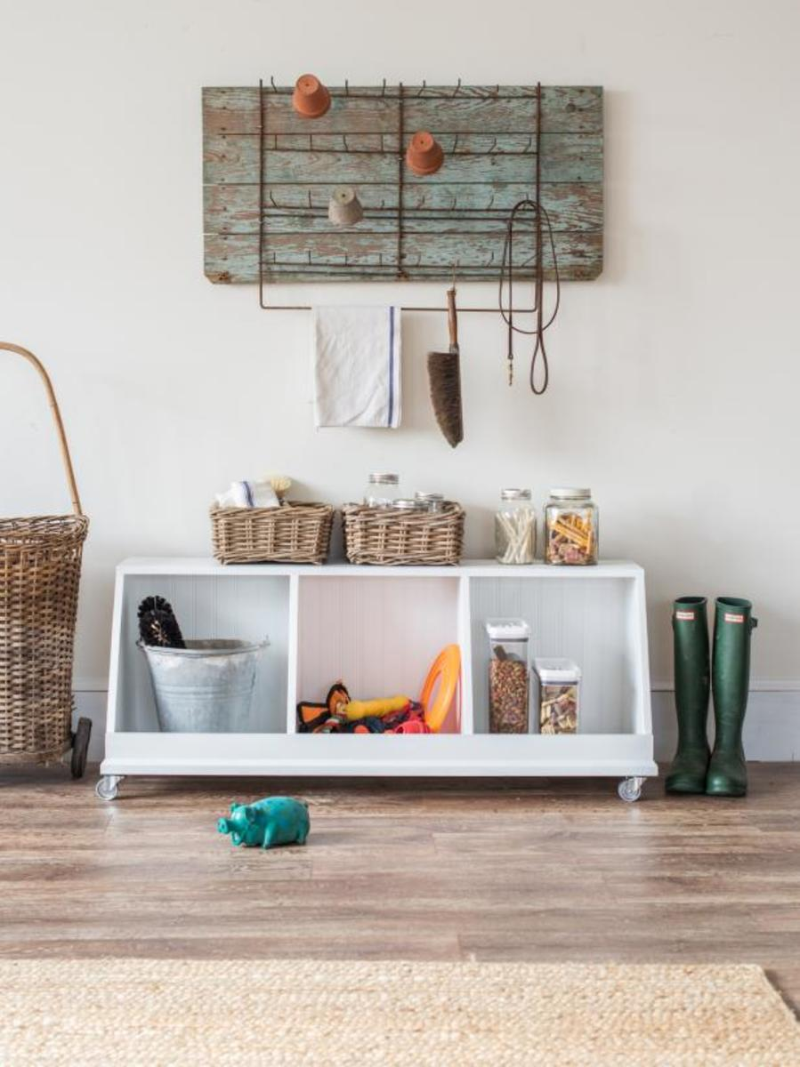 The white cubbies are a new, trendy, and easy way to arrange your belongings.