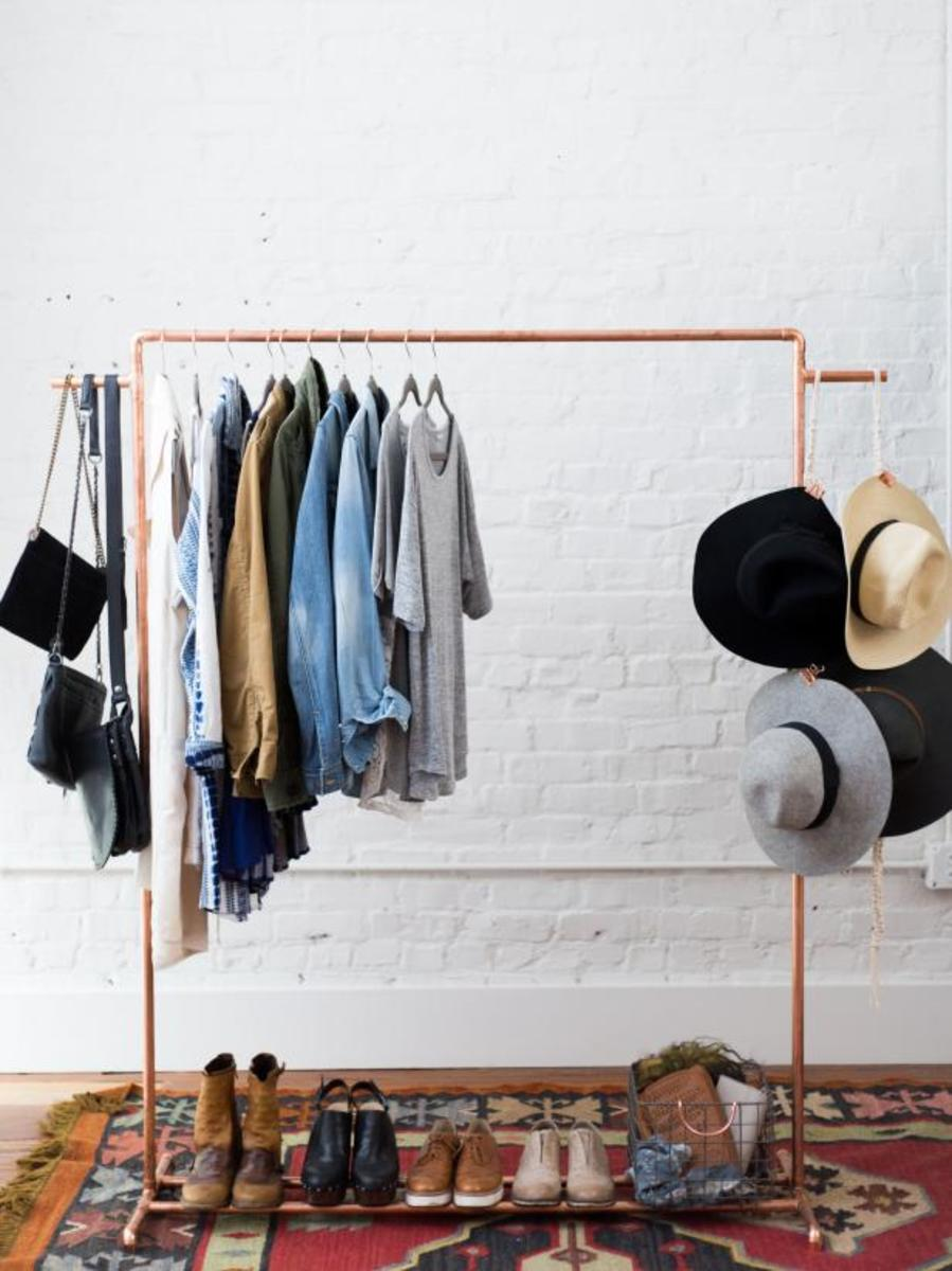 How to make a chic copper garment rack.
