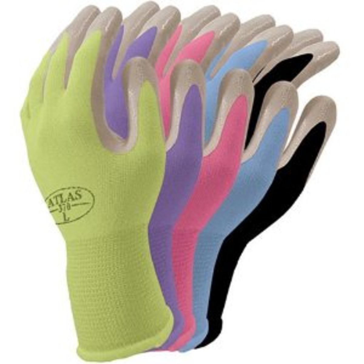 Atlas Nitrile Gardening and Work Gloves, Cornflower Blue, Medium