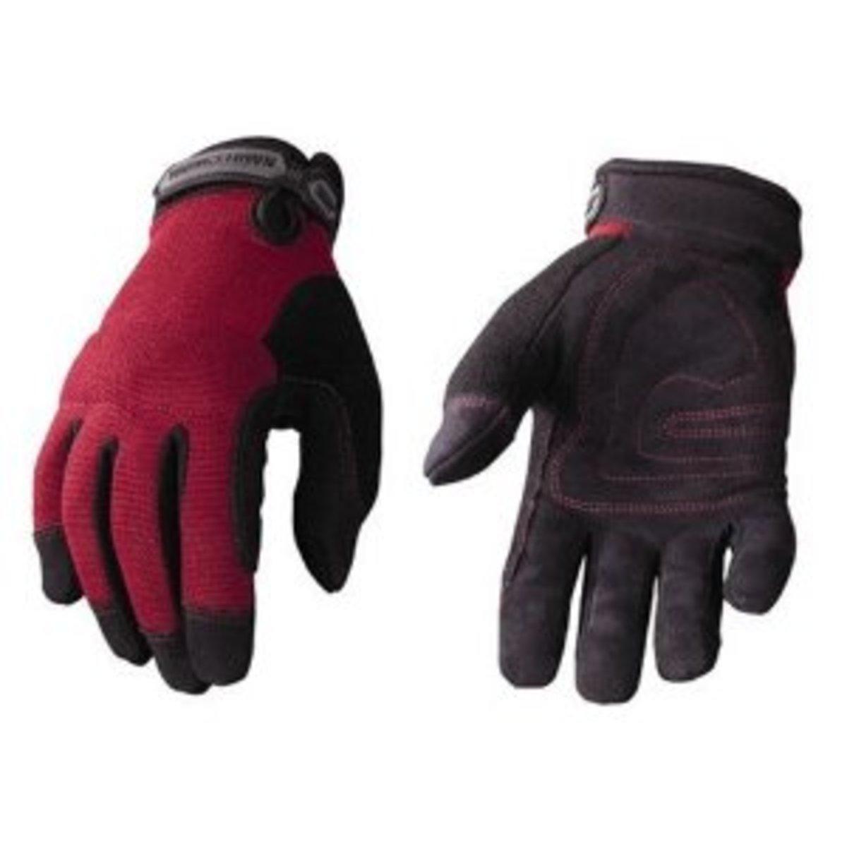 Youngstown Glove Co. 04-3800-30-M Women's Garden Glove Performance Glove Medium, Burgundy