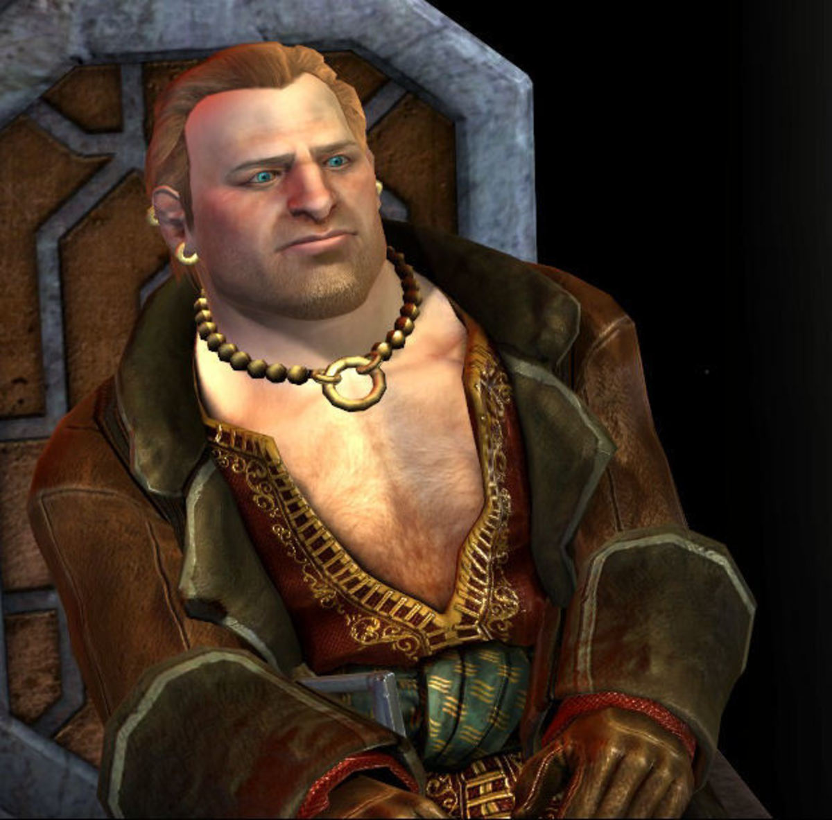 Varric with a blue-eye mod from Nexus.