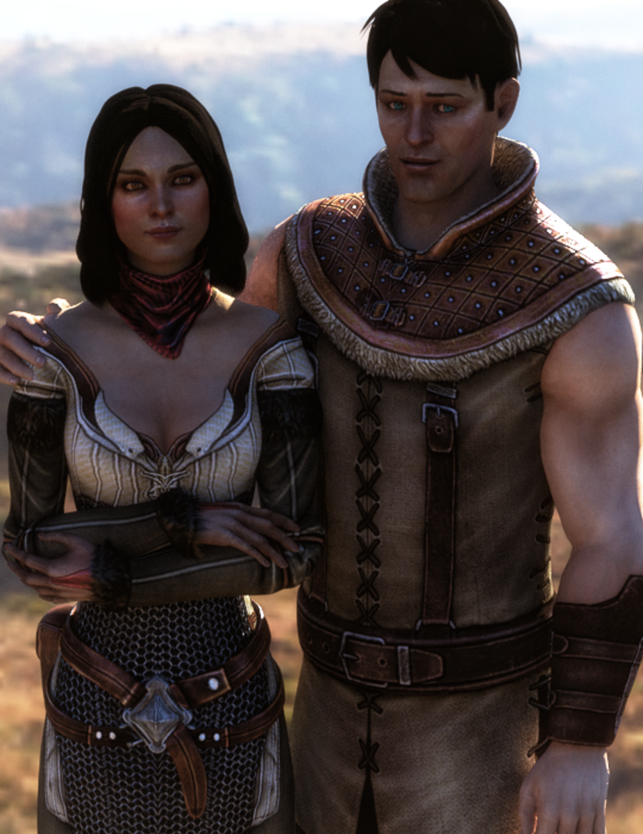 A fan render of Carver and Bethany.