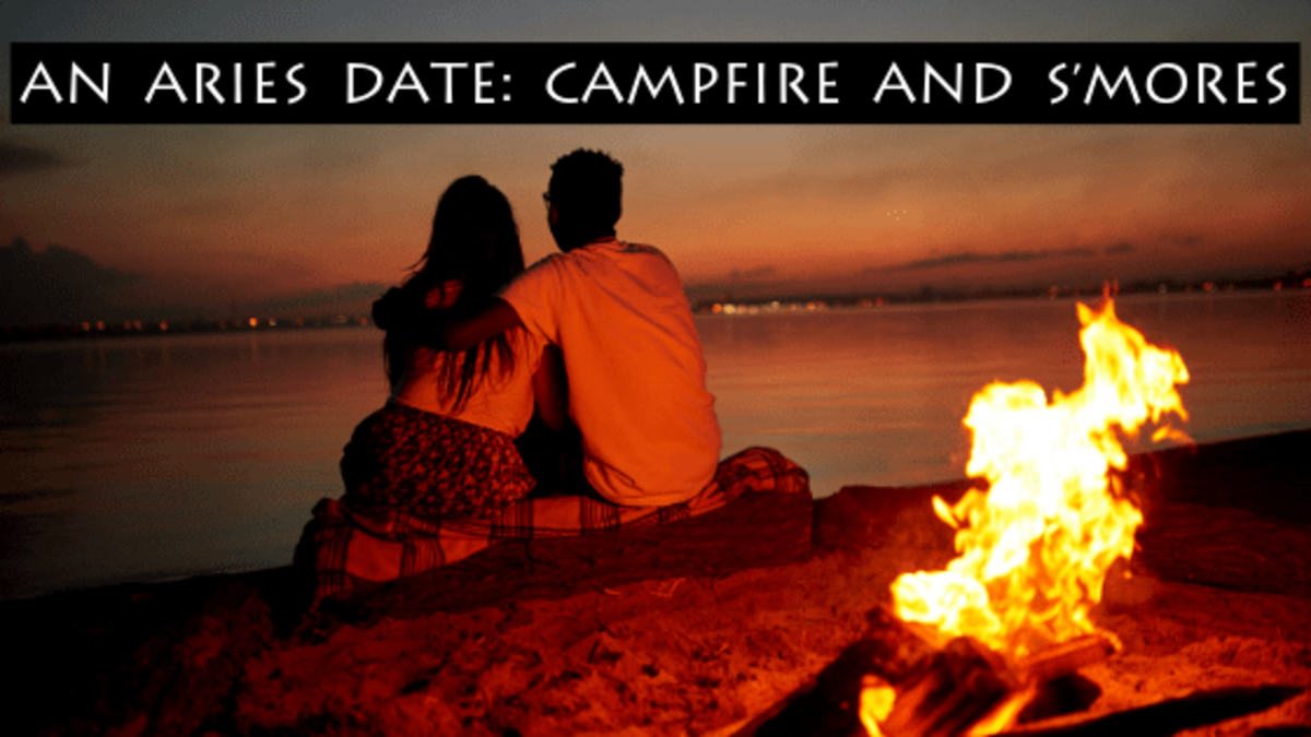 An Aries date should include fire. A campfire, fire dancers, fireworks, hot & spicy food, and sultry dancing. Bring the fire, and the Aries will be excited and want more.