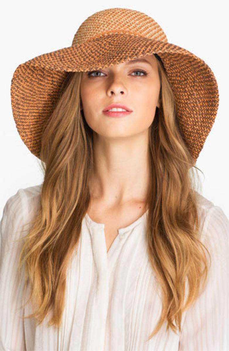 Wide brimmed sun hat.