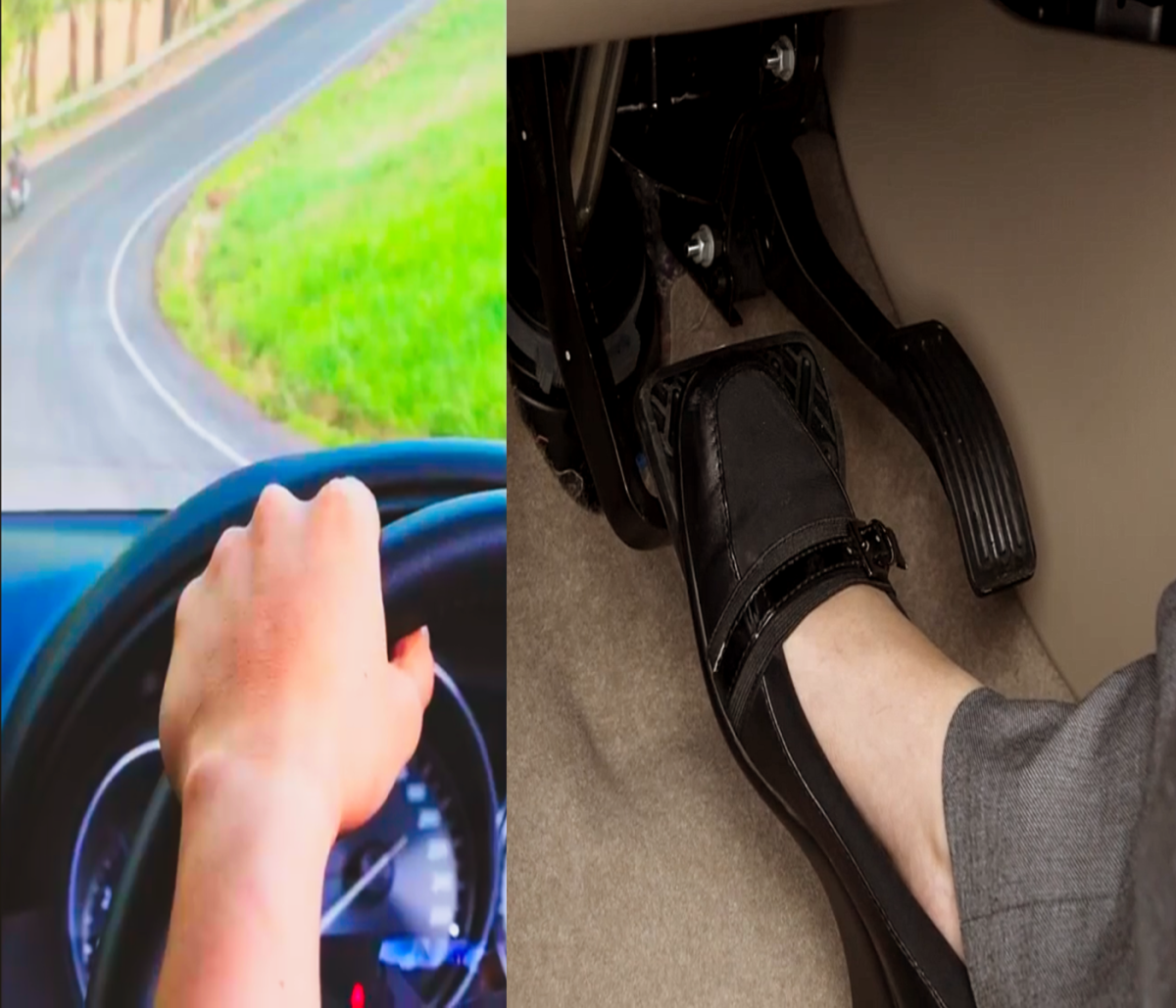 Keeping your foot on the brake while driving downhill puts unnecessary load on the braking system, which can lead to overheated brake rotors and in turn brake fade.