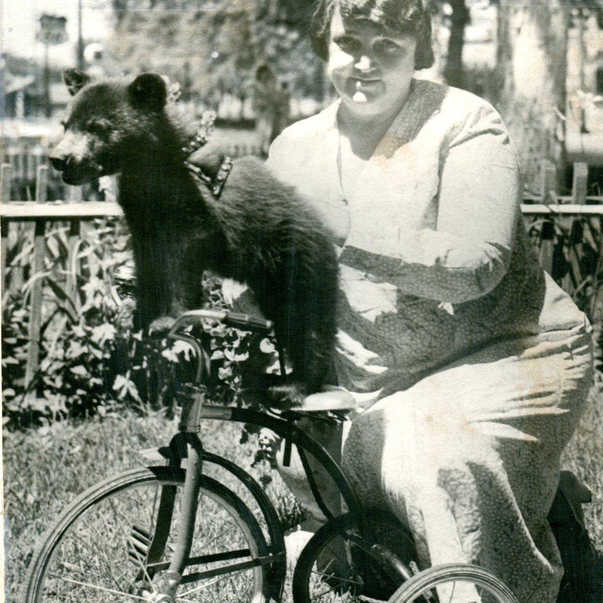 Mrs. WE Donough and Bear Cub (1933)