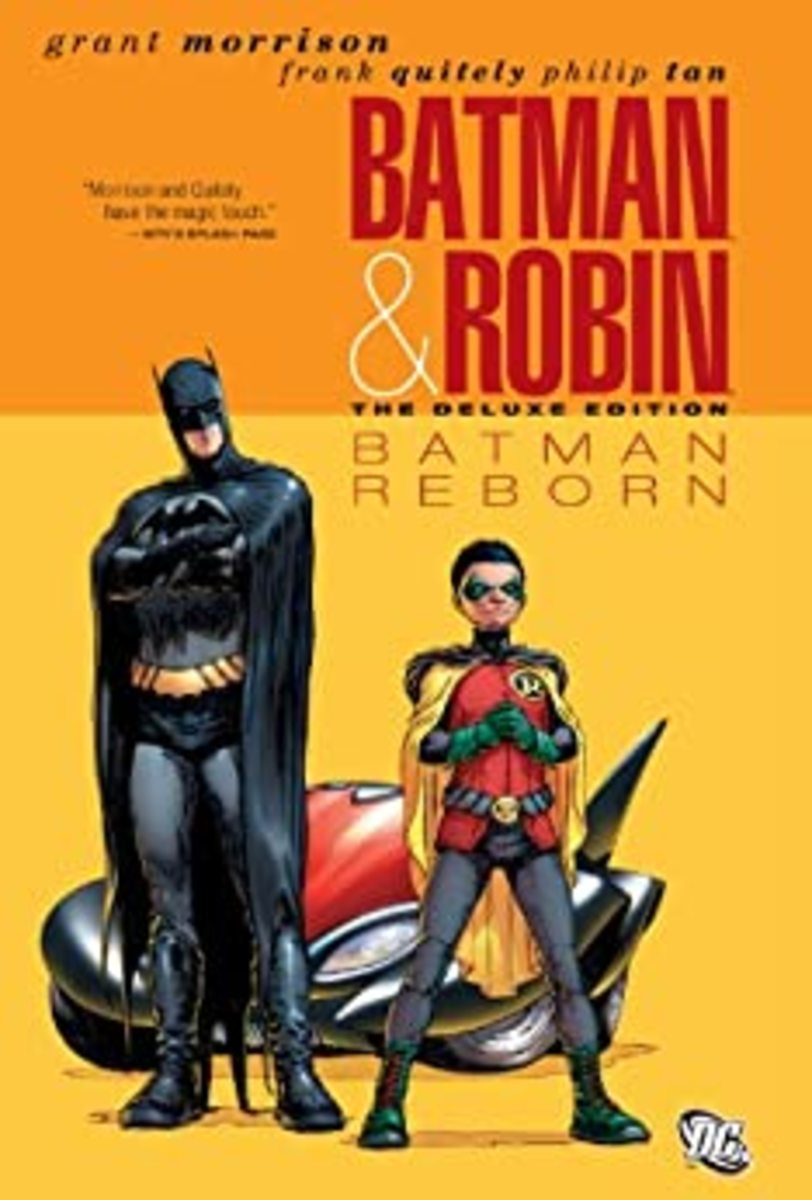 """Batman & Robin Vol. 1: Reborn"" graphic novel cover."