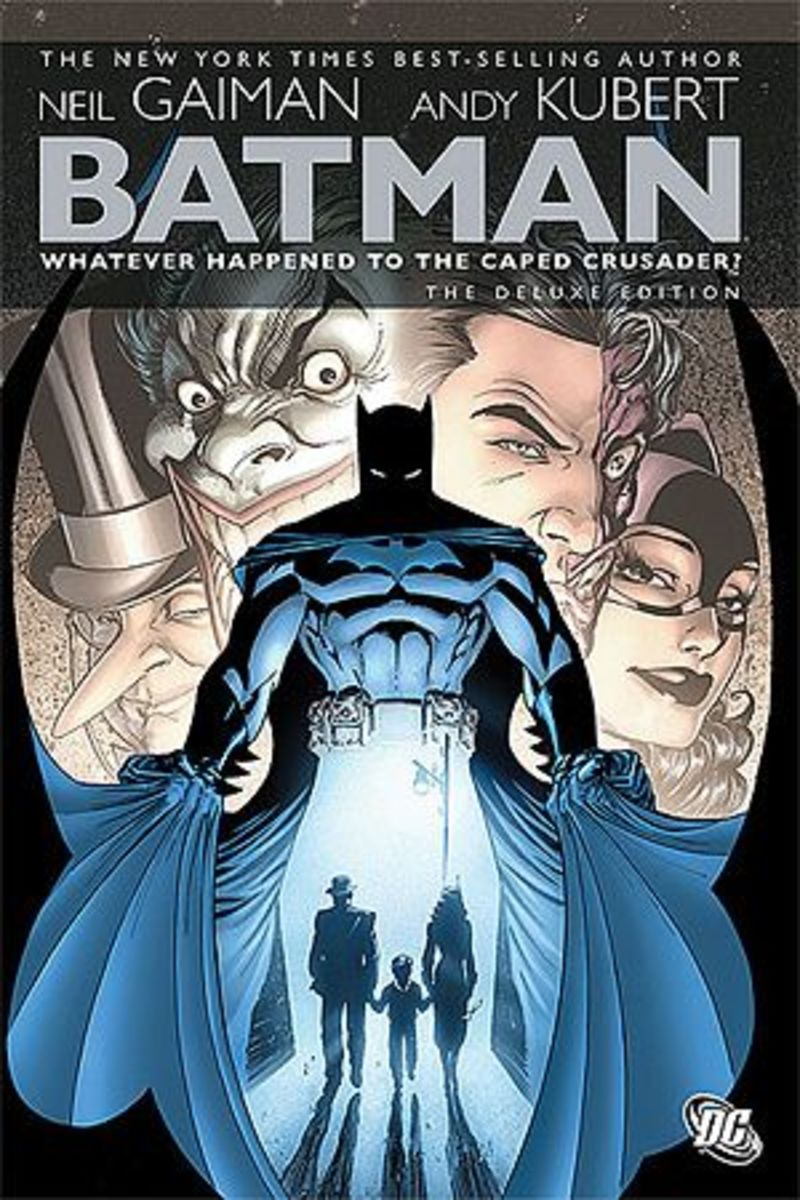 """""""Batman: Whatever Happened to the Caped Crusader?"""" graphic novel cover"""