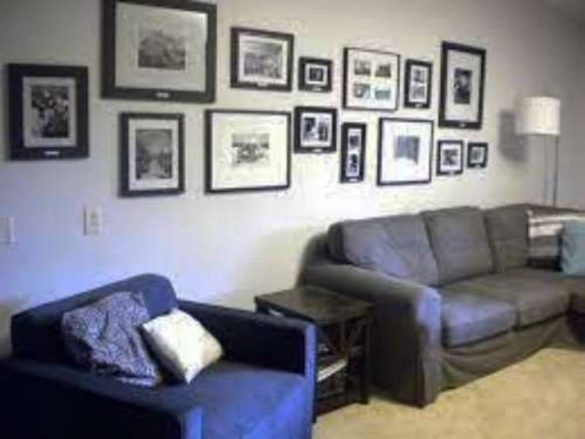 These are full on this wall with pictures are the entire thing looked cluttered and dirty.