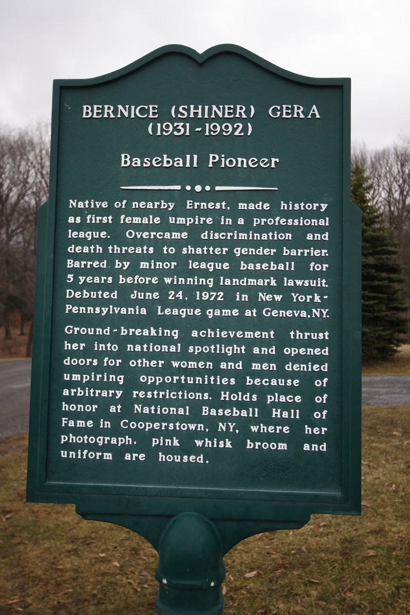 Historical marker in Pennsylvania honoring Bernice Shiner-Gera